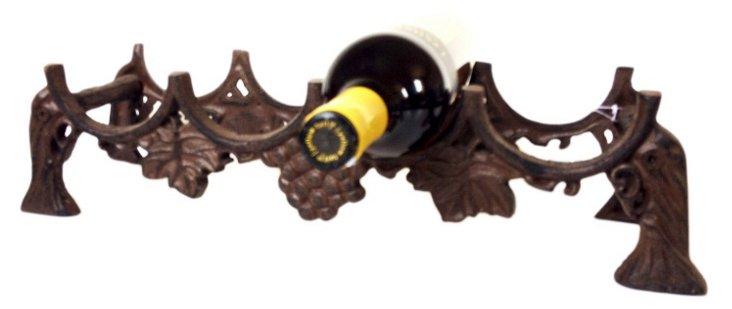 Cast Iron 4-Bottle Holder