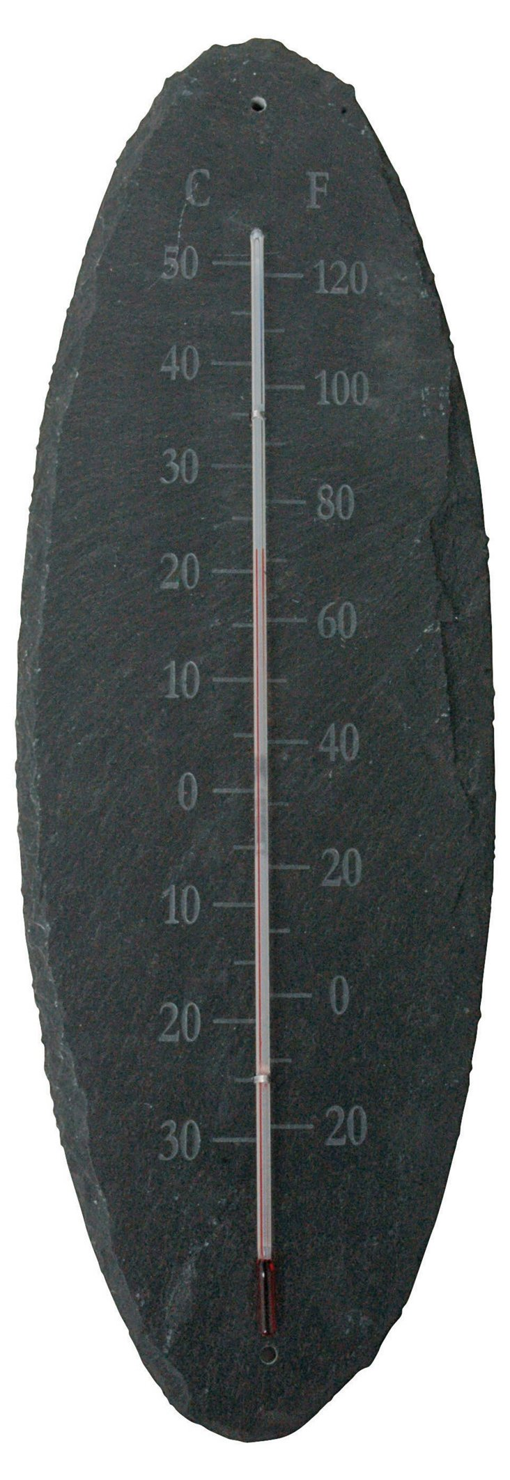 """16"""" Oval Thermometer, Gray"""