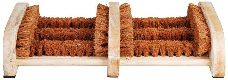 "14"" Wooden Boot Brush, Brown"