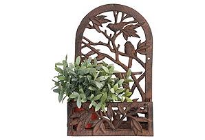 Cast Iron Bird Silhouette Window Planter