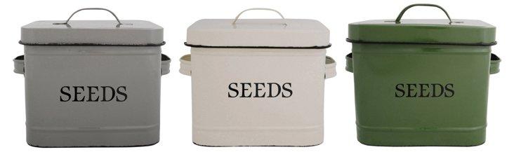 """Asst. of 3 9"""" Seed Bins"""