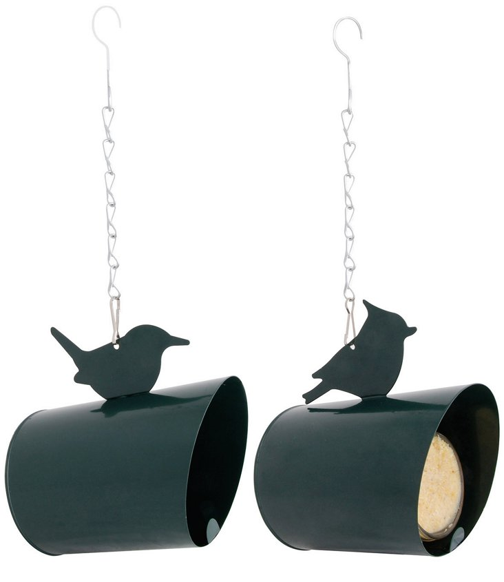 "S/2 6"" Peanut Butter Feeders, Green"