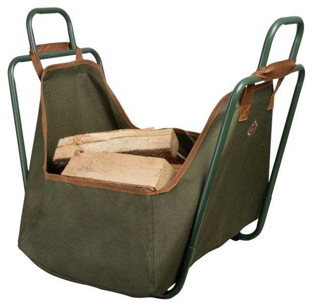 """27"""" Holder for Log Carrier, Green"""