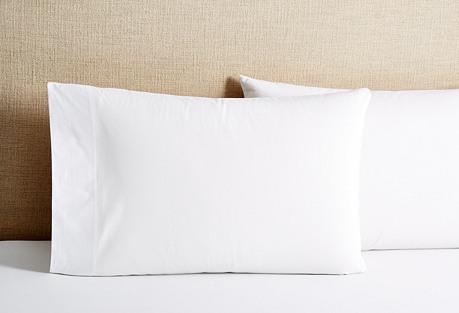 S/2 Percale King Pillowcases, White