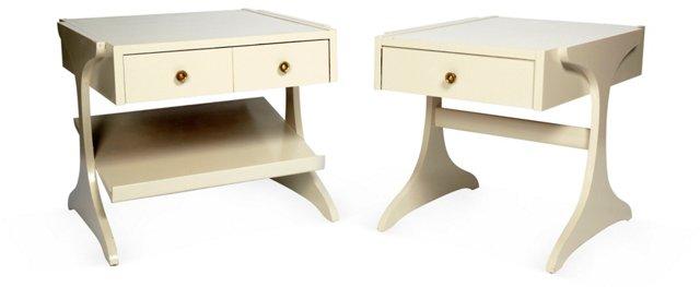 Vintage Kroehler Side Tables, Set of 2