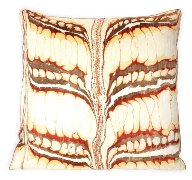 Custom Marbleized Velvet Pillow II