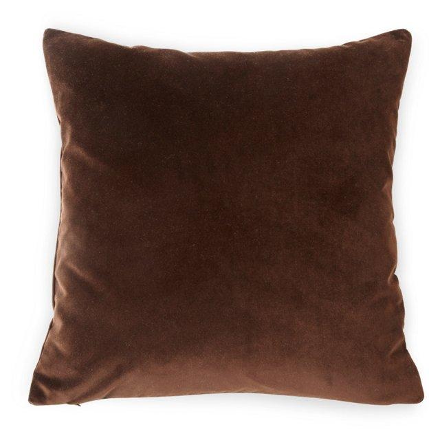 Custom Velvet Pillow, Chocolate
