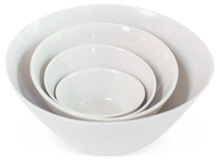 Silver Dollar Nesting Bowls, Set of 4