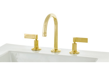 Anika Wales Faucet, Natural Brass