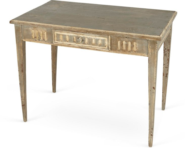 Antique French Side Table w/ Grooves
