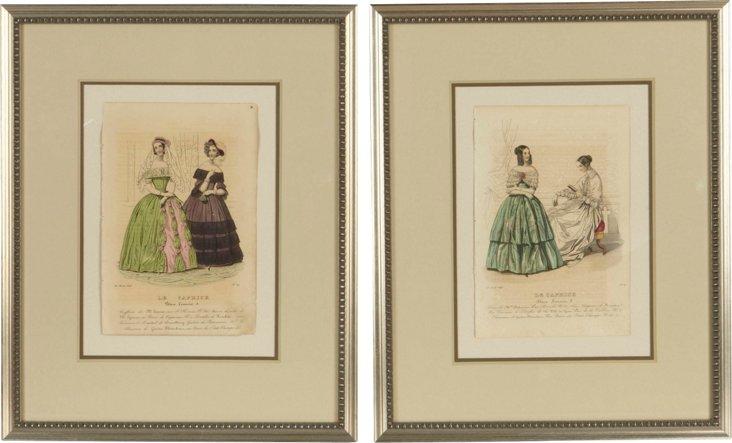 Fashion Prints, Set of 2, I