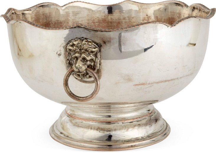 Large Silverplate Punchbowl