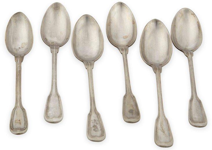 Silverplate Dinner Spoons, Set of 6, II