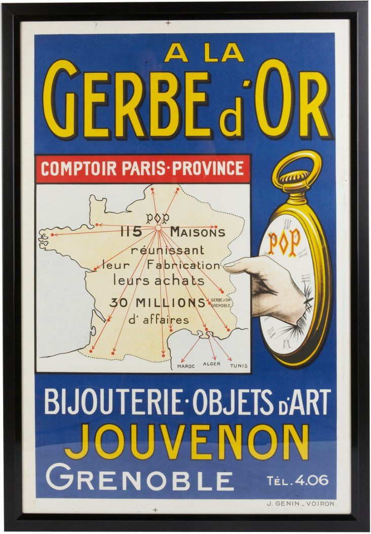 Framed French Estate Poster