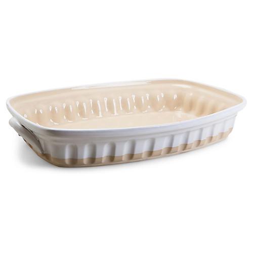 Lasagna Large Baker, White/Beige