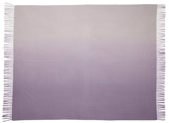 Ombré Cashmere-Blend Throw, Lavender
