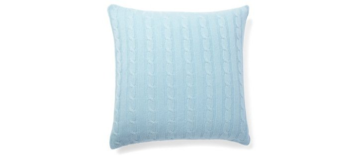 Cable-Knit Pillow, Glacier