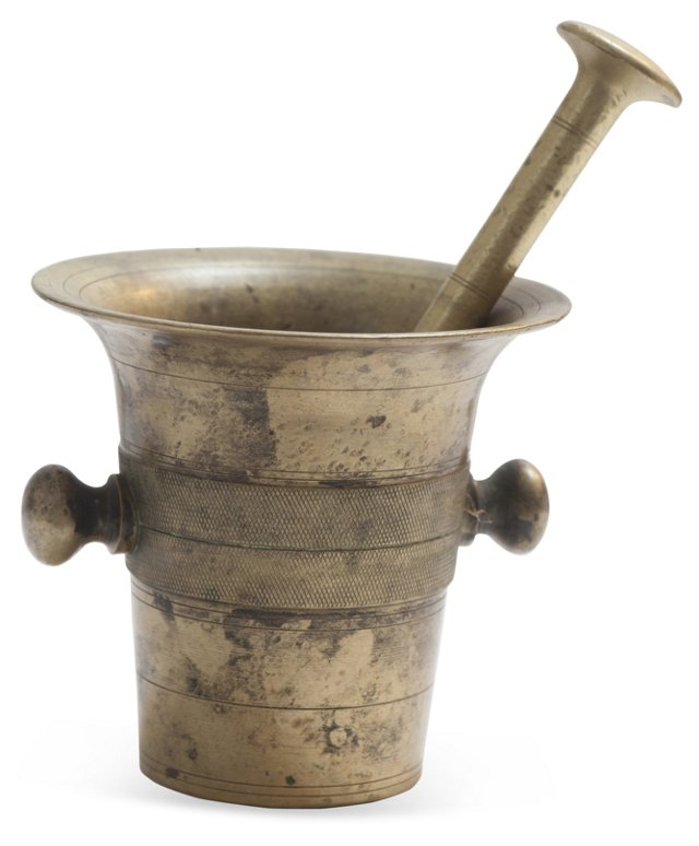 Brass Apothecary Mortar & Pestle