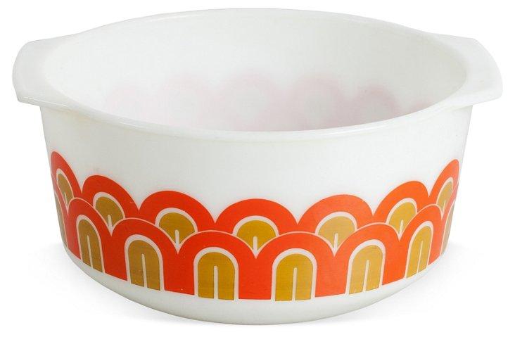 Orange & Mustard Pyrex Bowl