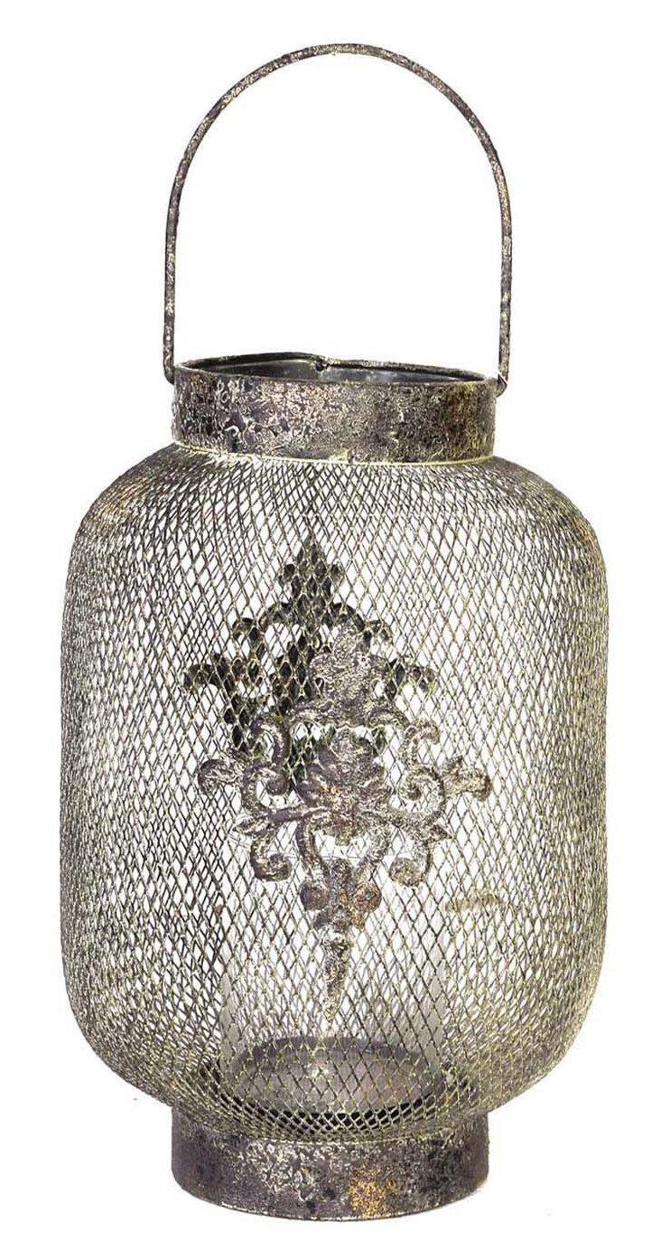 """17"""" Mesh Lantern, Silver"""