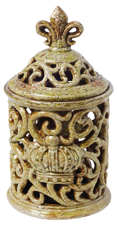 "11"" Ceramic Decorative Jar"