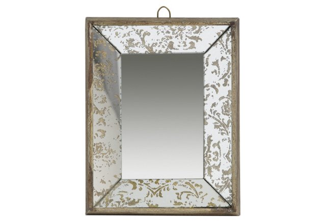 """12"""" Small Mirror Tray with Hook"""
