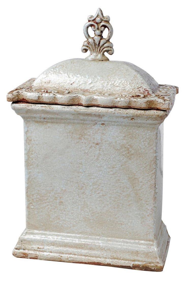 "15"" Lidded Rustic Jar"