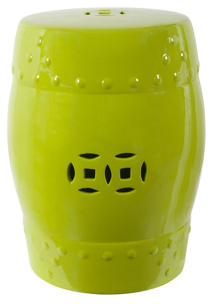 Cutout Stool, Lime Green