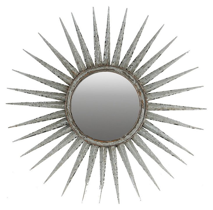 Fallon Wall Mirror, Silver