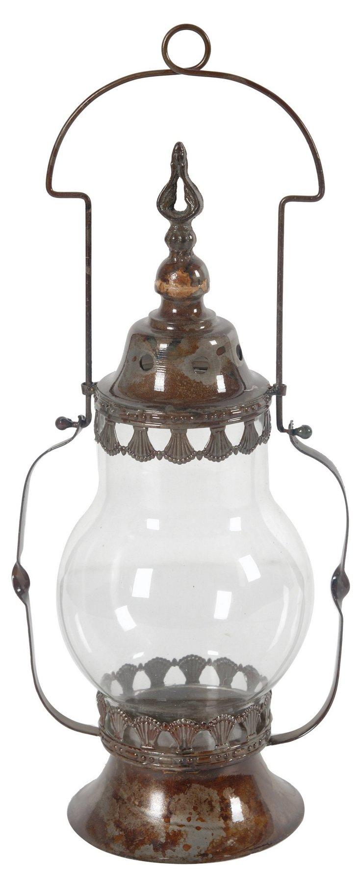 """18"""" Weathered Lantern, Brown"""