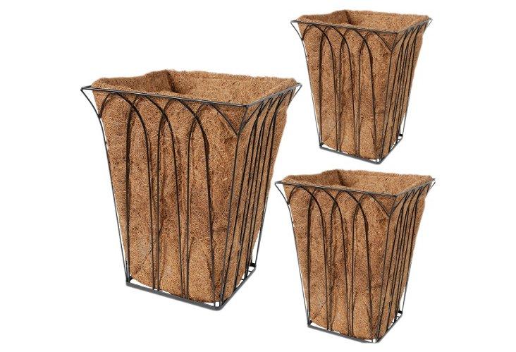 S/3 Square Metal Baskets