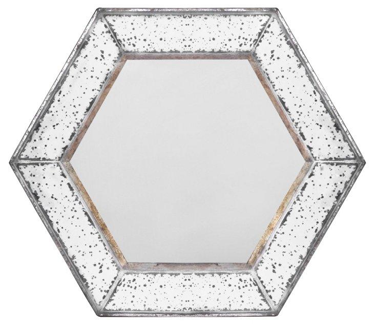 Alden Accent Mirror, Silver