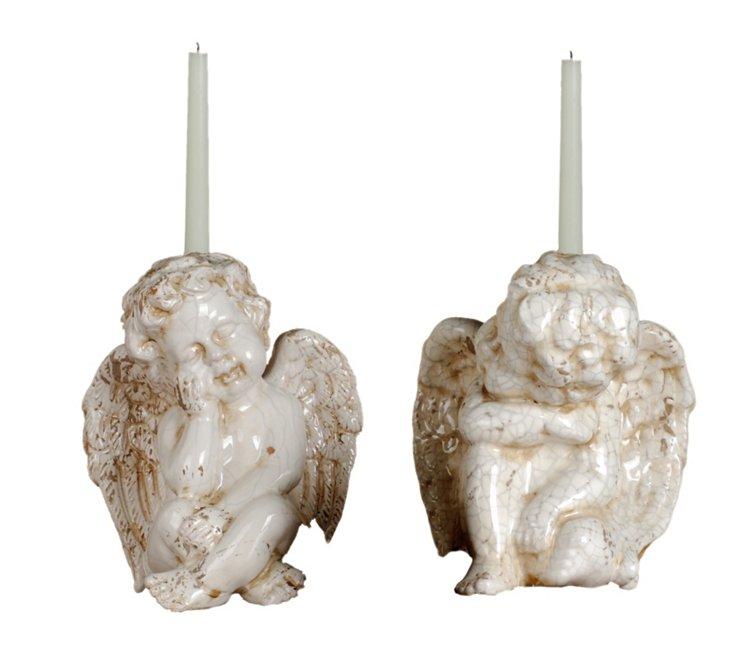S/2 Cherub Candleholders
