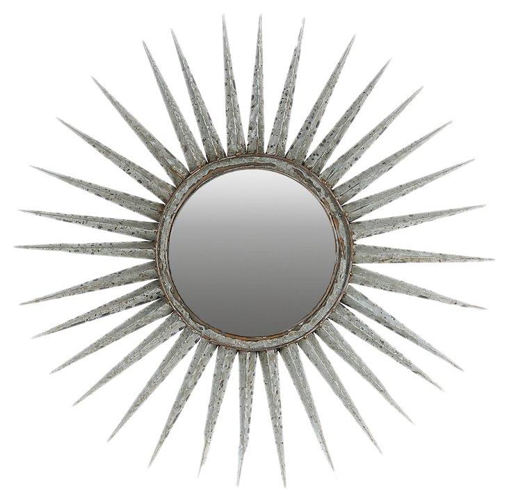 Nola Oversize Mirror, Silver