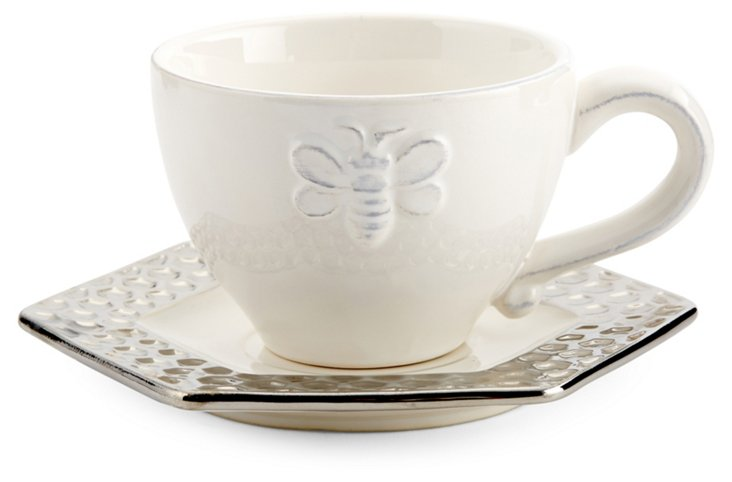 S/4 Bee Cups & Saucers