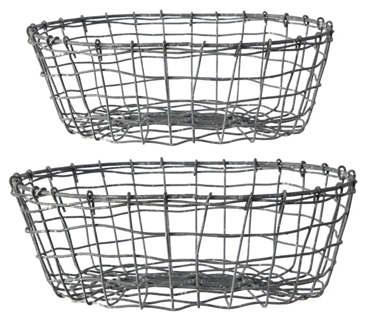 S/2 Metal Baskets