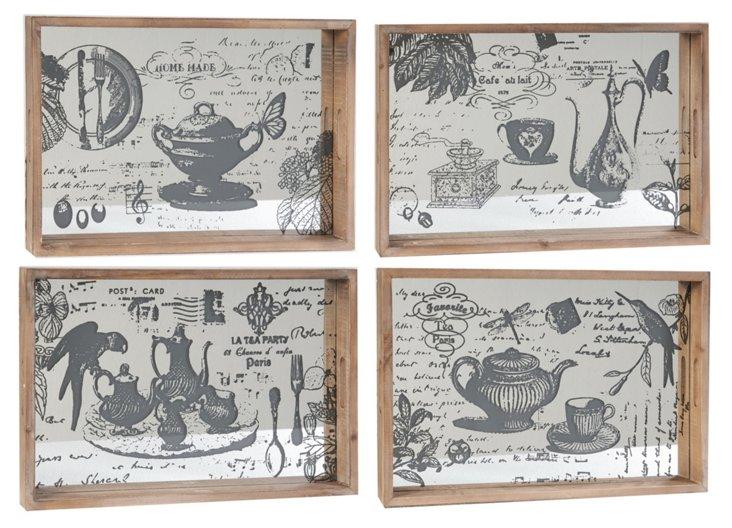 Asst. of 4 Teapot Trays