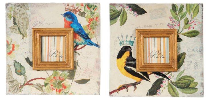 Asst. of 2 Bird Frames, 3x3