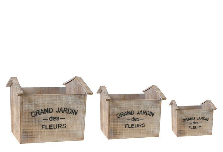 S/3 Grand Jardin Planters w/ Handles