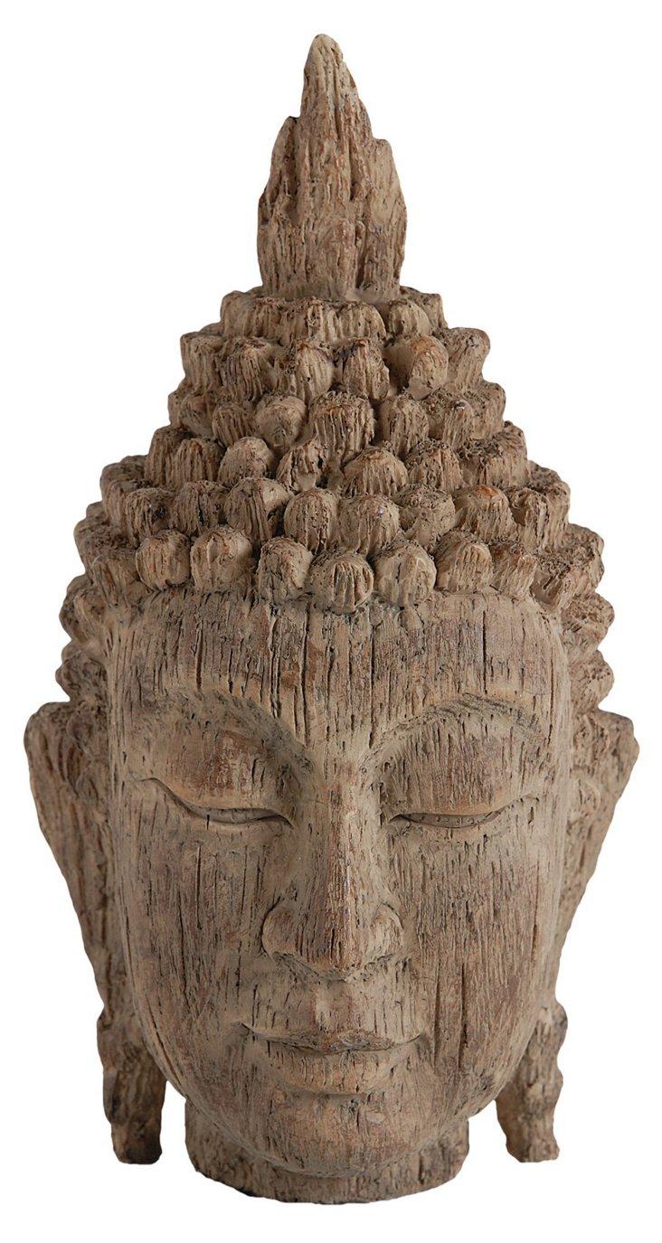 "8"" Buddha Head, Brown"