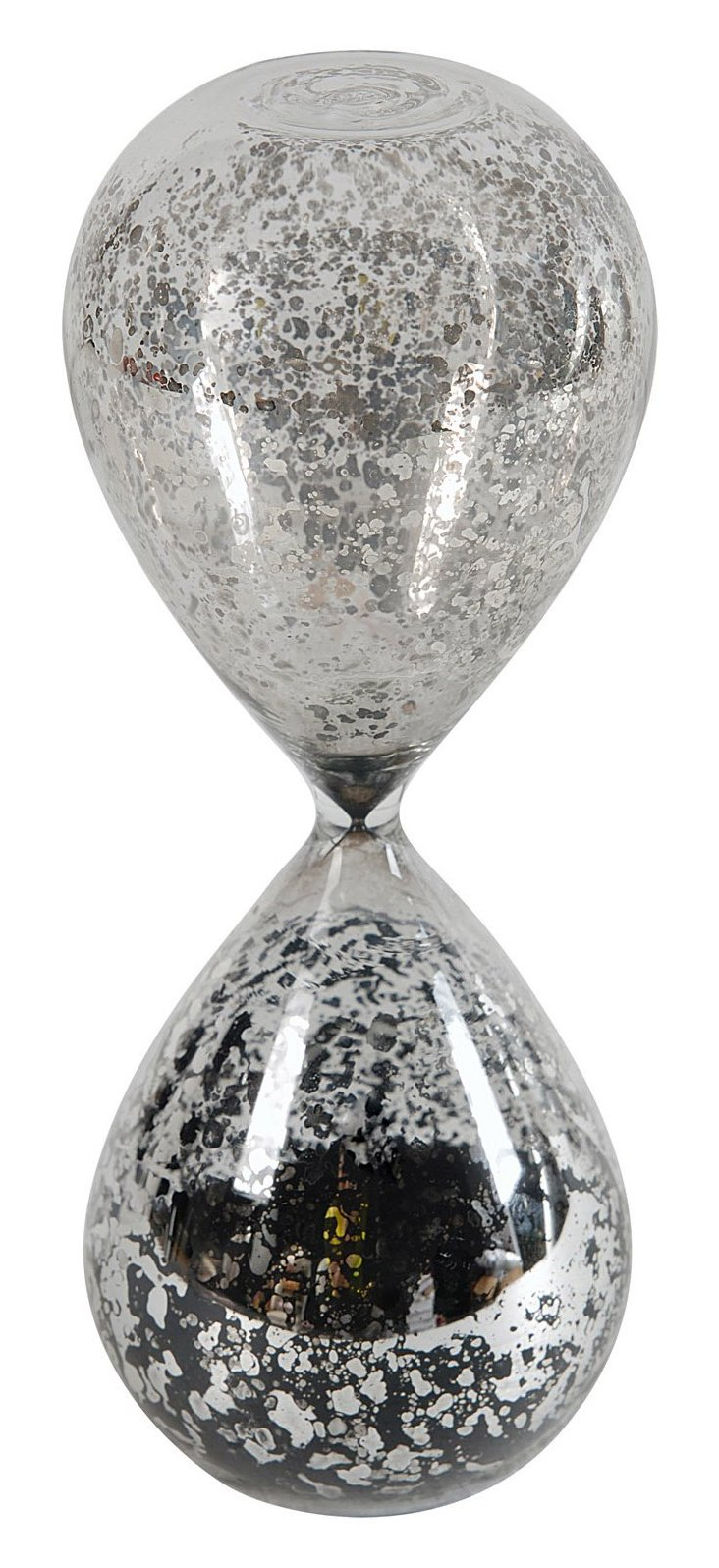 Silvered-Glass Hourglass, Black