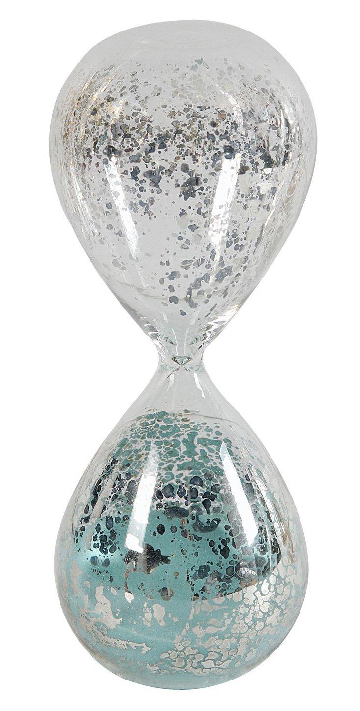 Mercury-Glass Hourglass, Jade