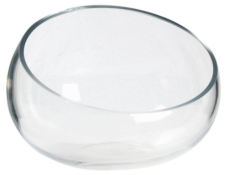 "10"" Glass Bowl, Clear"