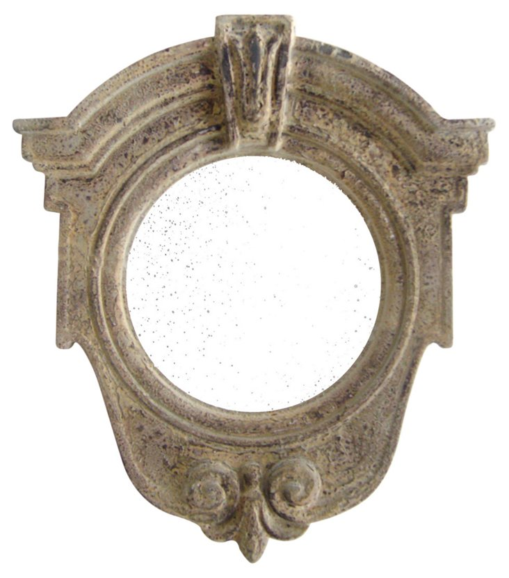 Livie Accent Mirror, Beige