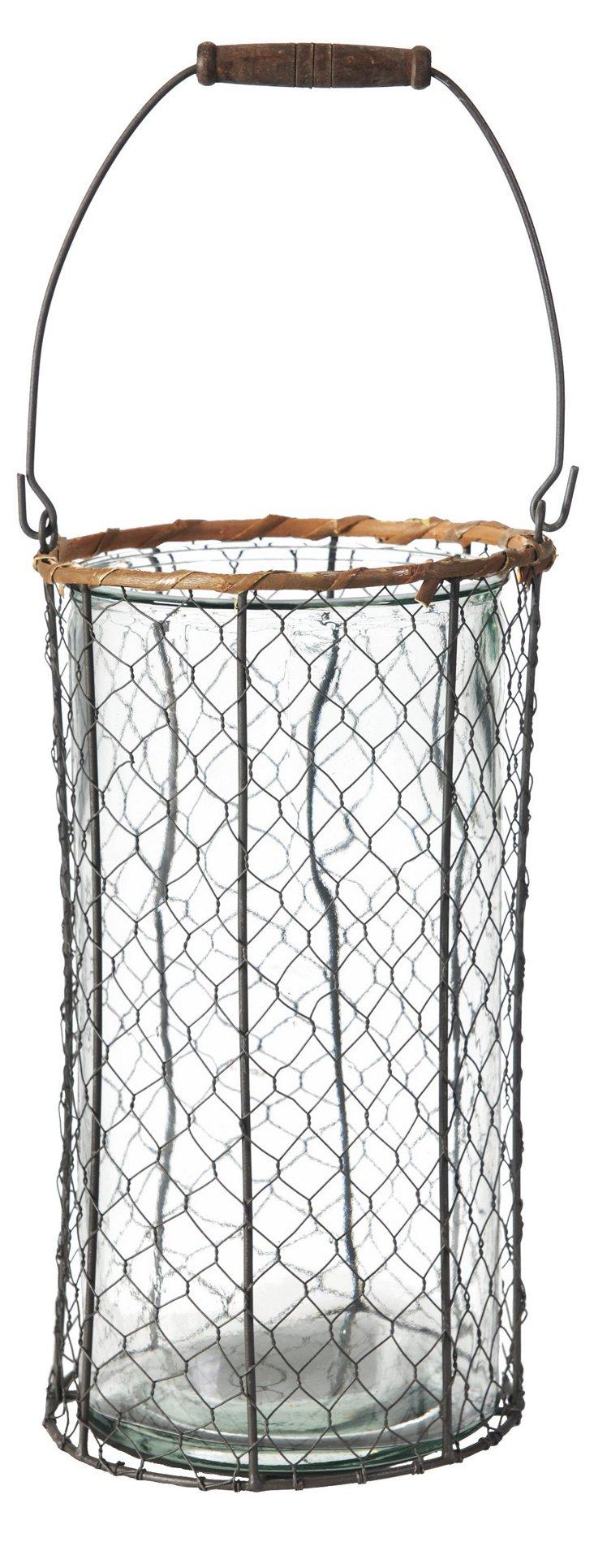 """13"""" Round Wire Farm Basket"""
