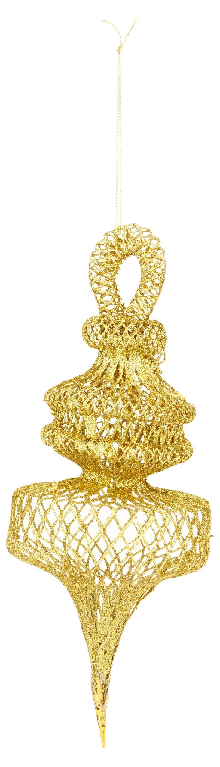 Short Mesh Ornament, Gold