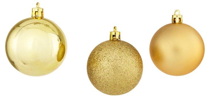 Box of 30 Asst. Ornaments, Gold