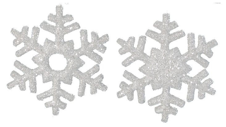 Snowflake Ornaments, Asst. of 2