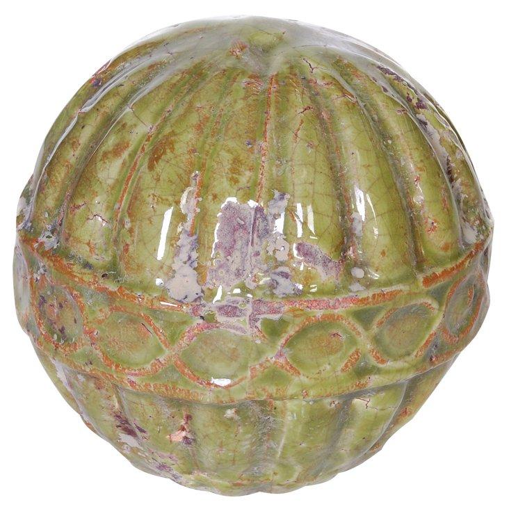 Green Ceramic Orbs, Asst. of 3