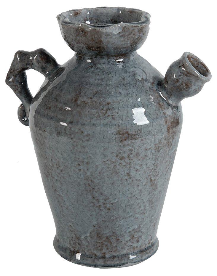 """10"""" Rustic Slate Pot"""
